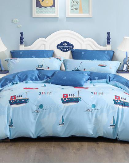 儿童全棉印花三/四件套夏季床单被套纯棉床上用品套件