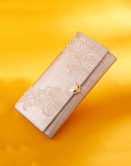 新款牛皮包包女包长款三折手机钱包手拿包大容量钱包