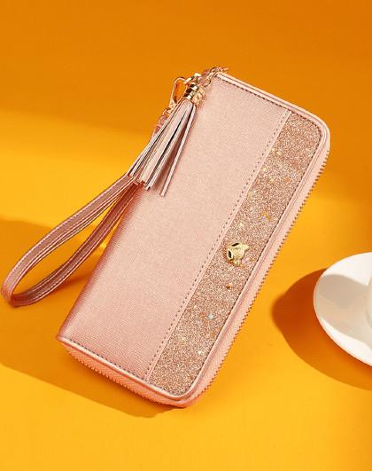 新款简约钱包女手拿包大容量长款女票夹大钞位女士钱包卡包钱包女
