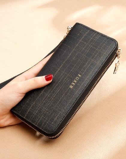 【精美礼盒装】新款牛皮长款钱包女零钱包手拿包卡包女士钱包女