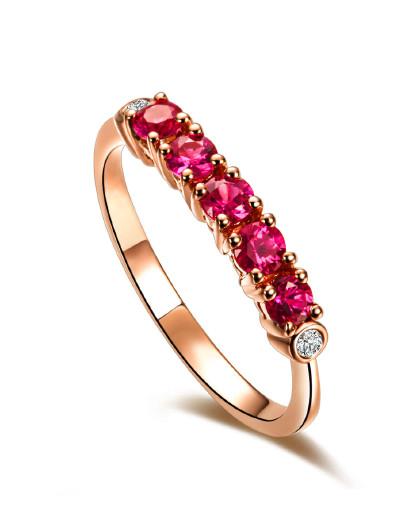 【春季特卖】18K金宝石戒指/蓝宝石戒指/红宝石戒指/宝石戒指