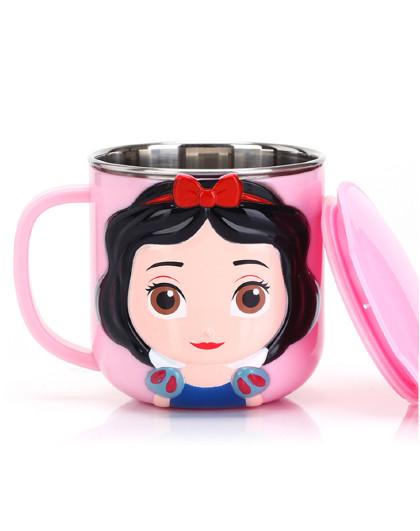 儿童餐具宝宝3D牛奶杯不锈钢幼儿园喝水杯
