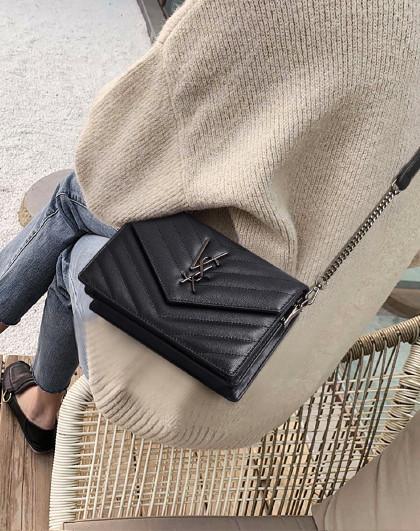 【人气爆款】新款牛皮时尚百搭菱格链条包单肩包包女式斜挎包女包