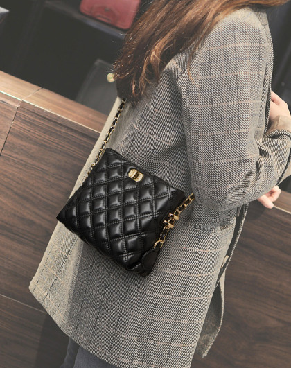 PLOVER 【人气爆款】新款牛皮包包手机包时尚链条包单肩包女式斜挎包女包