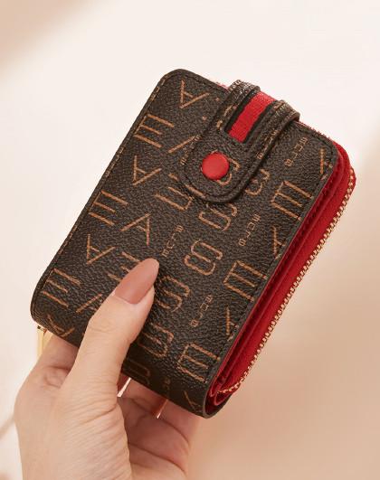 新款印花短款钱包小巧轻便多卡位零钱包钱夹卡包女士钱包