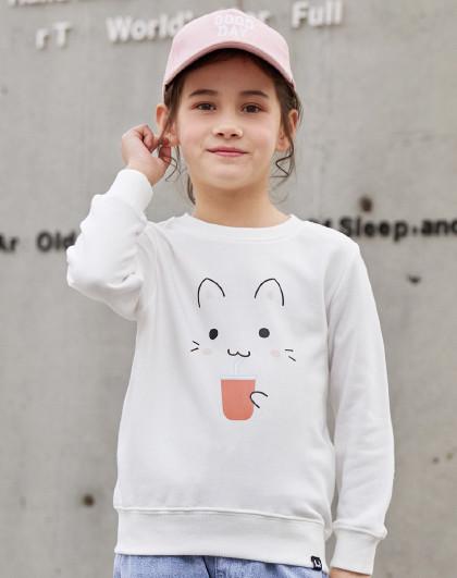 南极人 女童卫衣春秋装2019新款韩版中大童外套儿童装潮款上衣