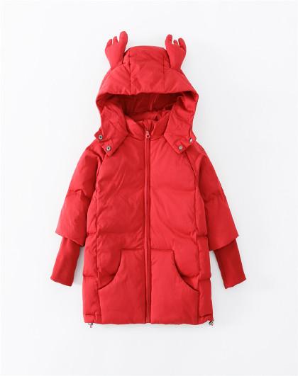 南极人 儿童羽绒服2019新款女童时尚羽绒服保暖连帽外套