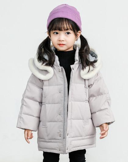 南极人 儿童羽绒服2019新款女童羽绒服时尚保暖外套