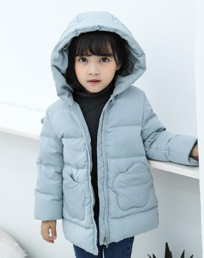 南极人 儿童羽绒服2019新款女童羽绒服连帽保暖外套