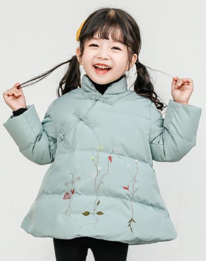 南极人 儿童羽绒服2019新款女童时尚保暖可爱羽绒服外套