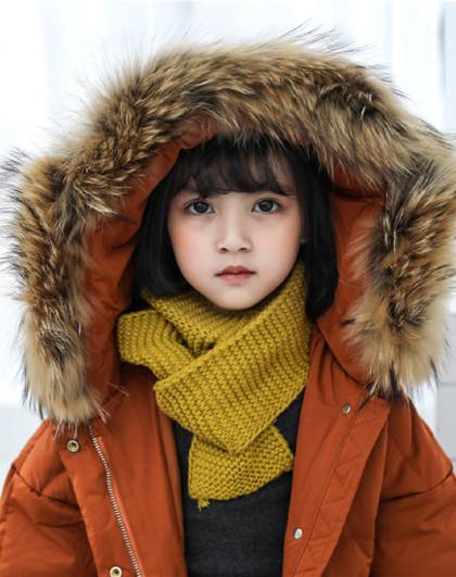 南极人 儿童羽绒服2019冬季新款时尚连帽带毛领保暖羽绒服
