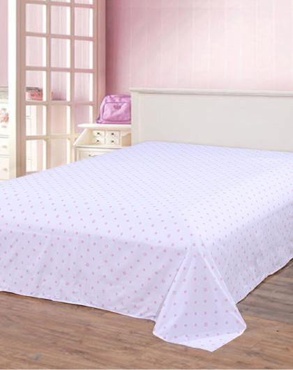 圣之花简约条纹波点单品床单100%纯棉床单单品