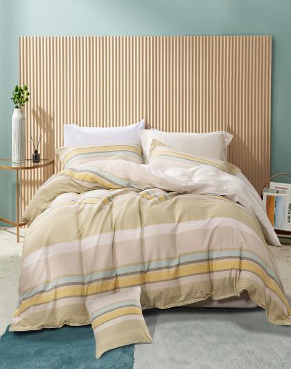 圣之花床上简约中性纯棉被套床单床上用品套件