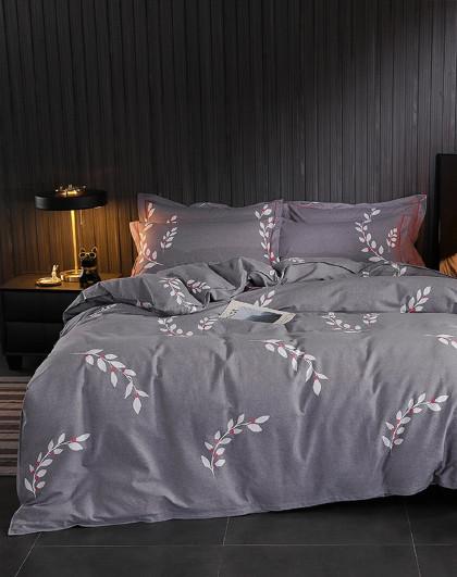 床上套件棉质100%磨毛加厚保暖印花磨毛四件套