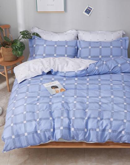 春夏季1.5m1.8米床活性印花纯棉套件床单式全棉四件套