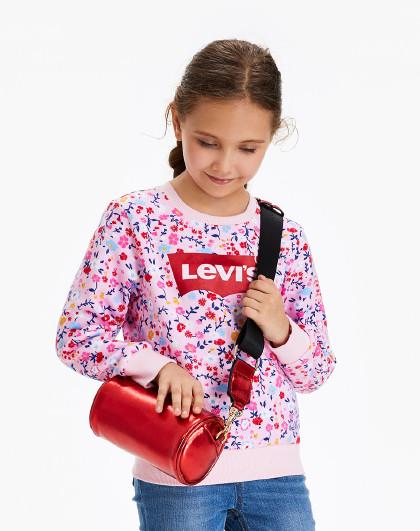 女童春秋碎花卫衣李维斯中大童装儿童田园风休闲卫衣