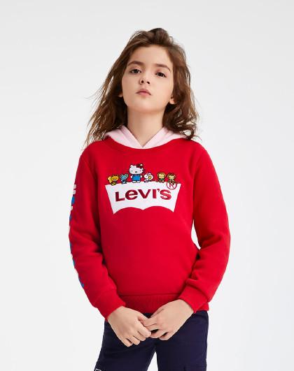HellokittyIP款李维斯童装女童春秋卡通时尚卫衣