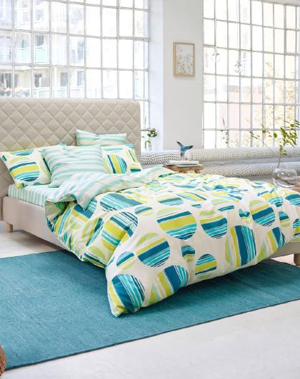 40支全棉印花四件套北欧纯棉床单几何被套床上用品套件