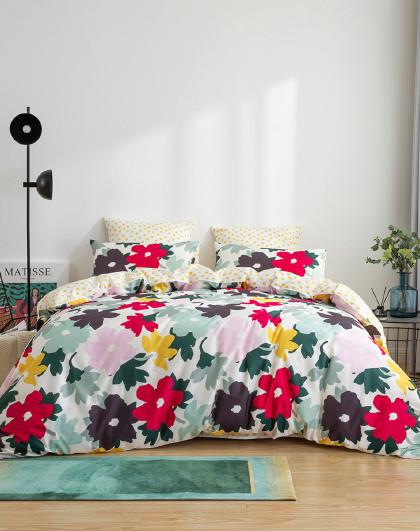 精选主推款原创花卉被套床上套件全棉四件套