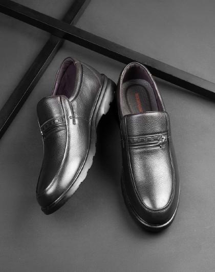 红蜻蜓 新款男士商务休闲皮鞋经典皮软底男爸爸中老年软皮鞋