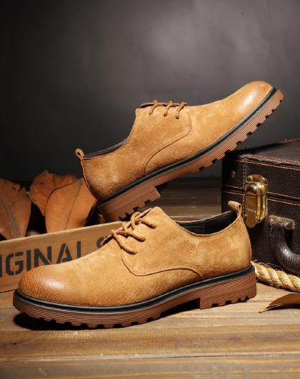 红蜻蜓 春夏男鞋休闲马丁鞋低帮工装鞋潮鞋英伦大头皮鞋