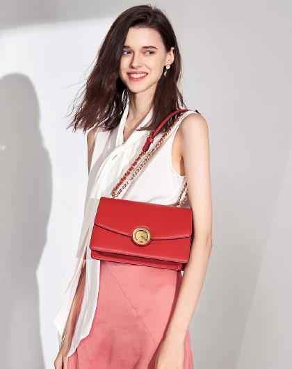 女包时尚爆款V型锁扣链条包气质单肩通勤包斜挎包闺蜜礼物