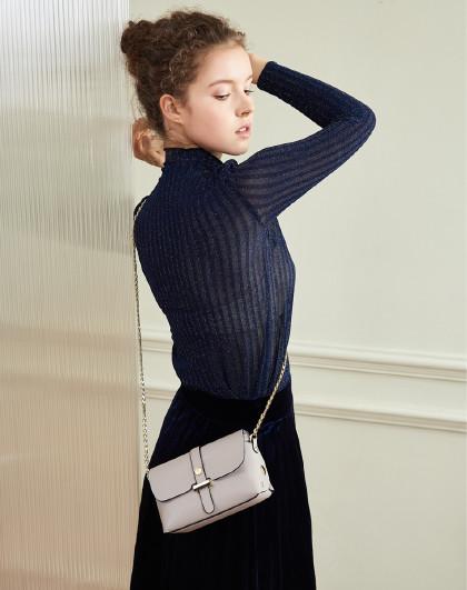 【头层牛皮】简约纯色链条包闺蜜礼物单肩斜挎信封包小包包