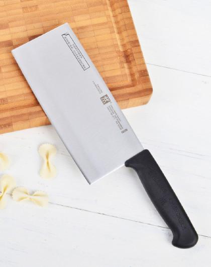 双立人18cm不锈钢刀具切菜刀切肉刀家用厨房用品中片刀菜刀