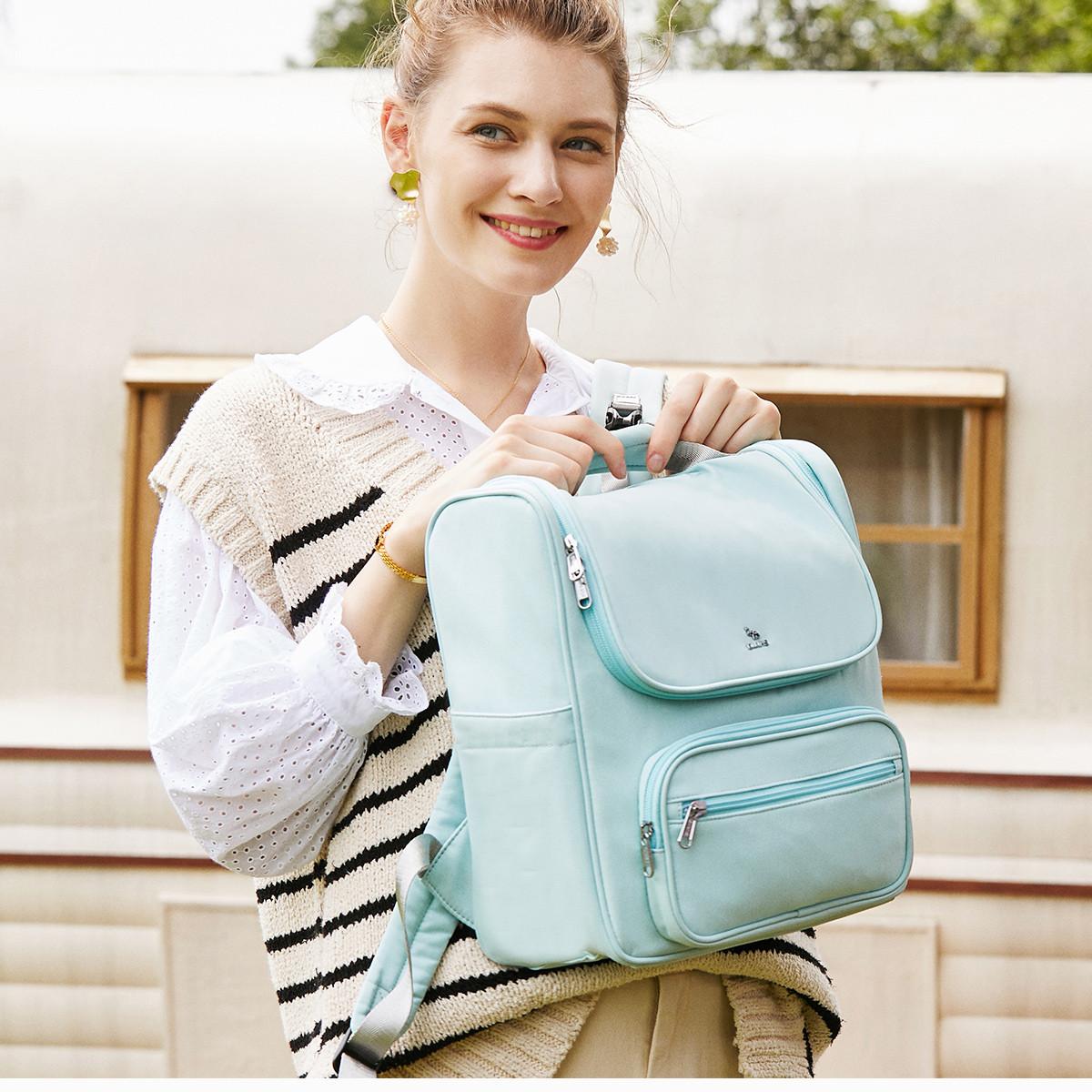 【专柜同款】爱华仕妈咪包大容量外出便携背包时尚妈妈包双肩包