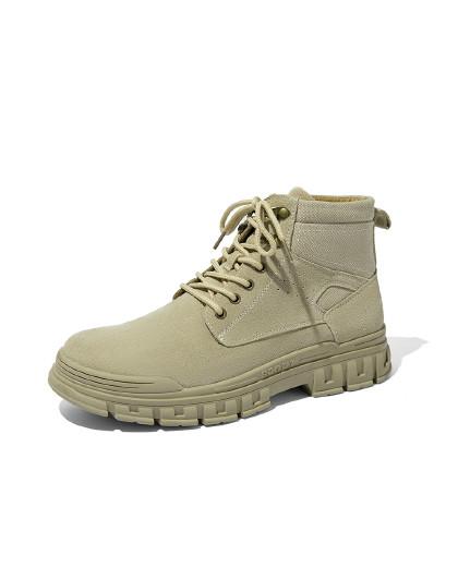 奥康 男鞋2019冬季新款马丁靴高帮鞋子街头酷帅潮鞋户外耐磨工装靴