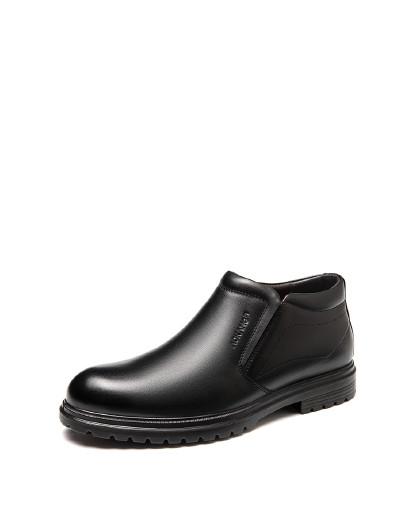 奥康 男鞋2019冬季新款商务正装皮鞋高帮加绒保暖冬季男工作鞋棉鞋