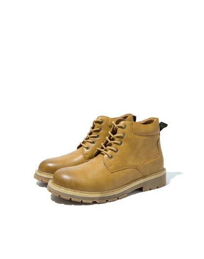 奥康 男鞋2019秋冬新款马丁靴系带街头风工装短靴户外休闲鞋男潮鞋