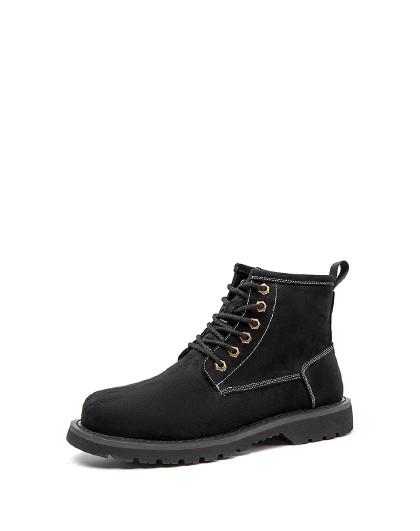 奥康 男鞋冬季马丁靴英伦复古大头朋克工装靴时尚短靴