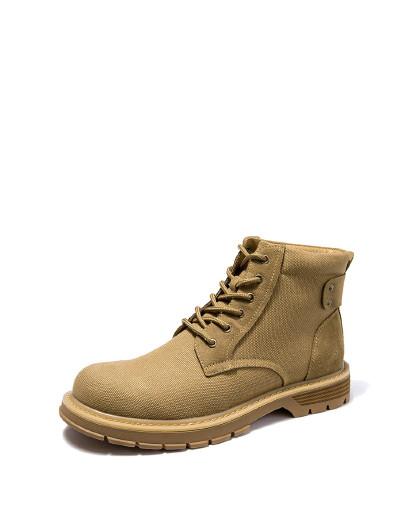 奥康 男鞋冬季马丁靴加绒保暖英伦复古工装靴时尚短靴潮