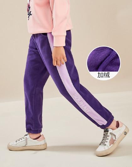 男童女童同款热卖款摇粒绒裤子轻便保暖运动裤
