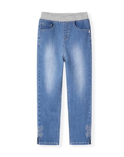 童装女童春季新款牛仔长裤