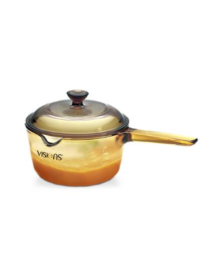 VISIONS 康宁进口家用玻璃锅四季通用单柄奶锅汤锅面锅耐热玻璃锅单锅