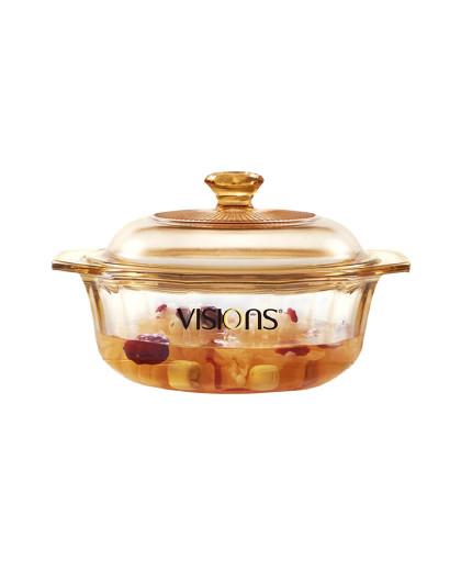 VISIONS 康宁进口家用大容量四季通用透明玻璃锅汤锅面锅火锅炖锅耐热单锅