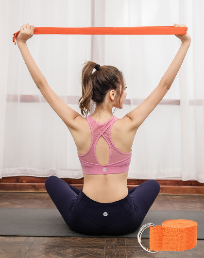 【4件起售】瑜伽伸展带防驼背拉筋拉力带空中瑜伽绳子开肩艾扬格辅助瑜珈用品