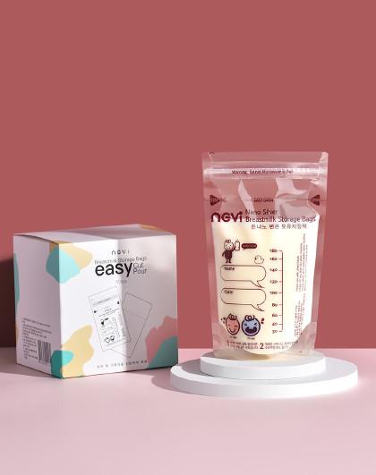 韩国进口母乳储奶袋纳米银奶水储存袋母乳保鲜袋储奶包60片