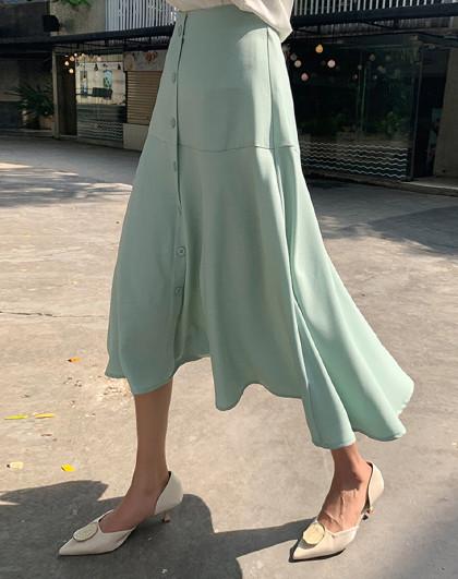 夏装女装韩版高腰显瘦气质裙子半身裙