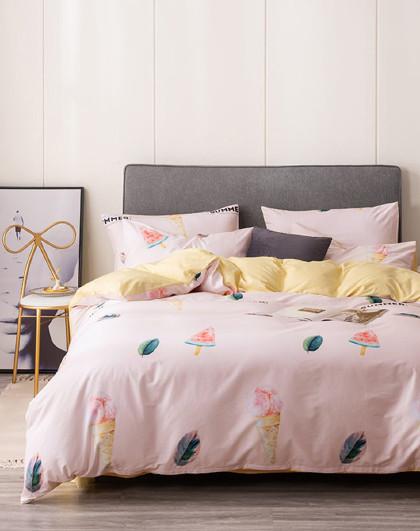 床上套件全棉四件套学生宿舍被套床单四件套纯棉床上四件套