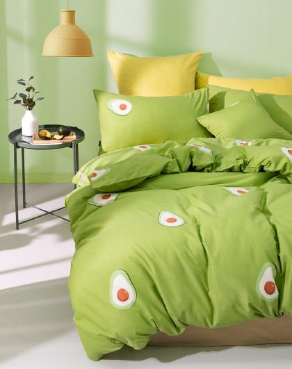 ins水果系列床上套件小清新印花床单被套亲肤透气床上用品