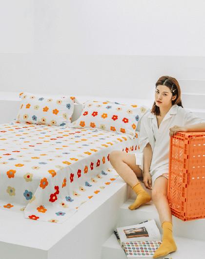 新品亲肤透气单双人全棉床单儿童学生成人宿舍床单单件