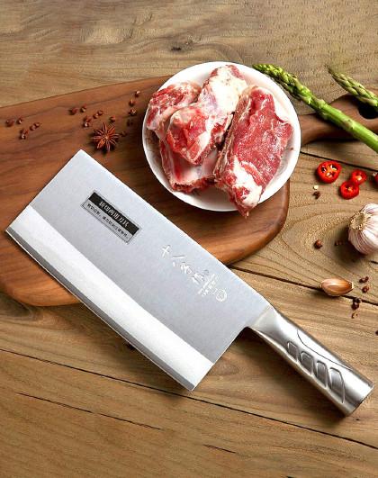 家用厨师专用锰钢专业厨师刀手工锻打三合钢斩切刀具阳江菜刀