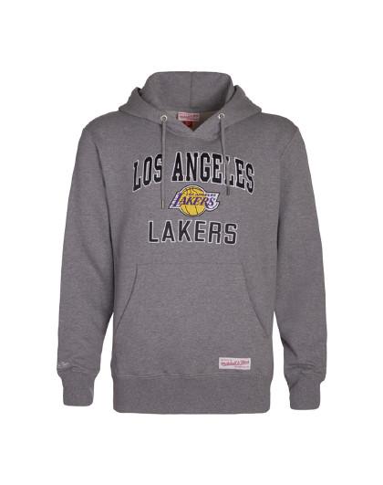 Mitchell Ness联名款湖人队 加厚加绒刺绣连帽卫衣
