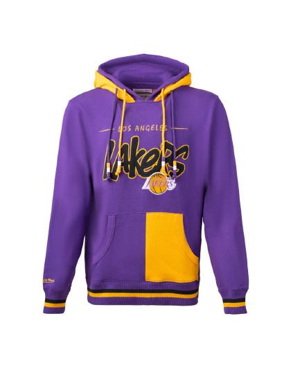 联名款Mitchell Ness连帽休闲卫衣 MN套头衫运动服NBA湖人队