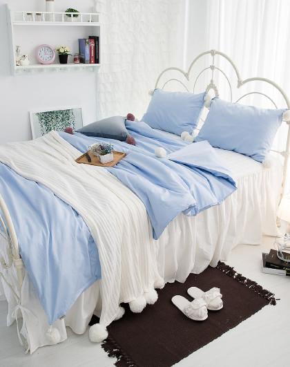 纯色简约全棉套件床单被套床上用品纯棉四件套