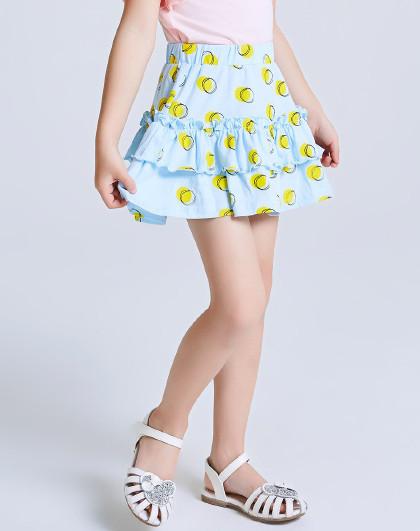 南极人 夏季新款女童半身裙中大女童蛋糕裙纯棉时尚波点女童裙子