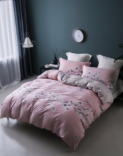 1.5米1.8米卡通斜纹印花纯棉保暖床单四件套